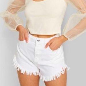 Wild Fable Frayed Hem Denim Shorts